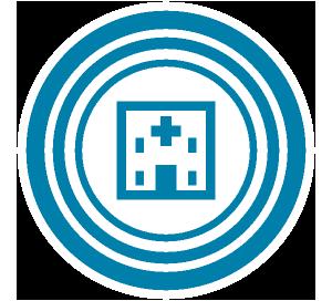 病院M&Aコストを抑えた 医療圏の拡大のイラスト